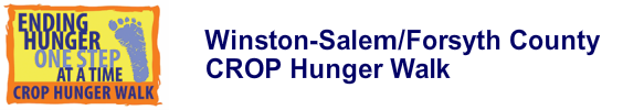 2019 Winston Salem - Forsyth County CROP Hunger Walk Sunday, October 20th, at Corpening Plaza